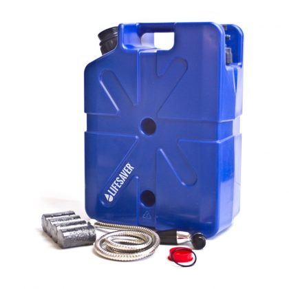 Family emergency preparedness water purification pack