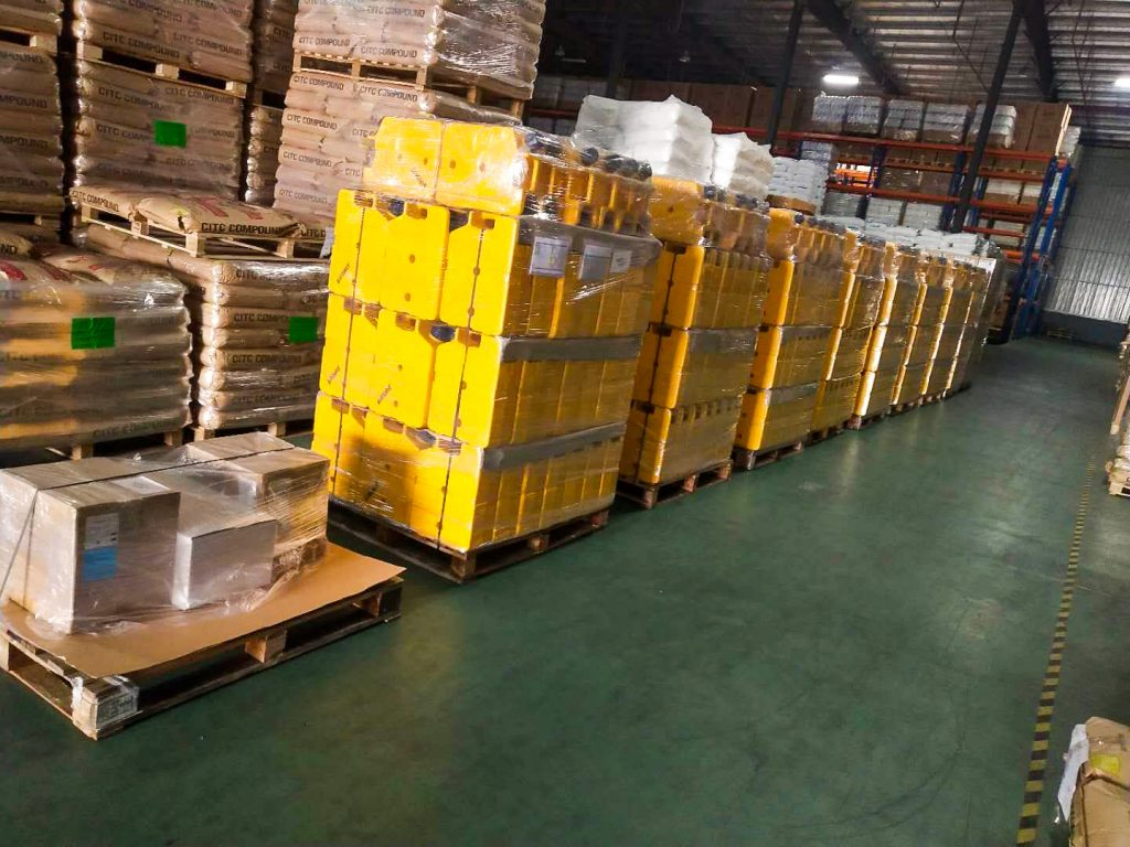 Pallets of LifeSaver Jerrycans in Tibet